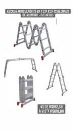 Escada Articulada 13 em 1 3x4 com 12 Degraus de Alumínio - BOTAFOGO