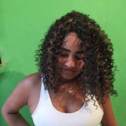 Lace wig sintética Cacheada Ombre Hair