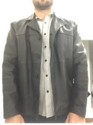 Jaqueta de couro legítimo Tam 52