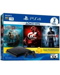 Playstation 4 1TB c/3 Jogos GT/God/Unch Pronta Entrega