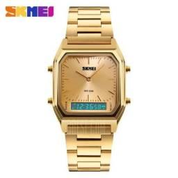 Relógio SkmeI 1220 Impermeável 30m Luz de Fundo - Aceito de Crédito e Débito