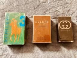 Adquira três perfumes Importados em um Kit