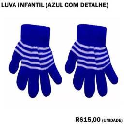 Luva de Frio Infantil Azul com Detalhe 721362c7e08