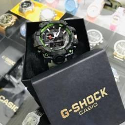 Relógio G-Shock Casio Verde Exército com Preto Black