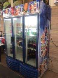 Freezer expositor vertical 3 portas barato