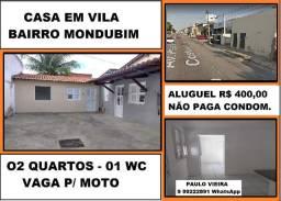 Alugo Casa na Avenida Presidente Costa e Silva , 02 Quartos e Não Paga Cond