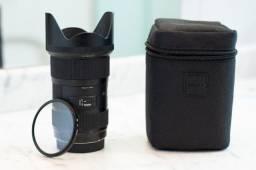 Sigma Art Ef 18-35mm F/1.8 com filtro UV para Canon - Em Perfeito Estado