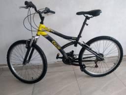 Bicicleta Caloi Max Front Juvenil - Aro 24 - 21 Marchas - Preto e Amarelo<br><br>