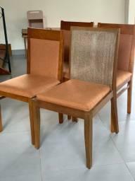 Cadeiras de madeira - jogo com 6