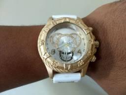 Relógio Pulseira de Silicone Branco