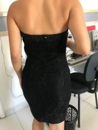 Vestido preto tomara que caia!