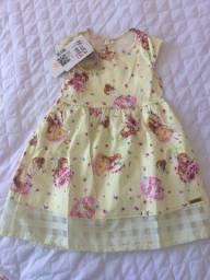 Vestidos para meninas de 1 a 3 anos