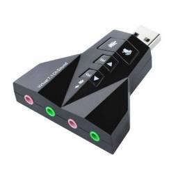 Adaptador de Som USB 7.1 Canais - Plenus Informática