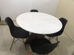 Mesa elástica redonda a vista