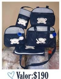 Kit de bolsas maternidade masculino
