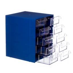 Gaveteiro Organizador Azul Multiuso Novo Magus Cg510