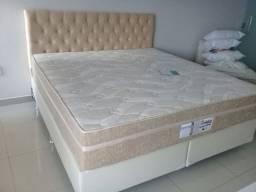 Cama Box + Probel Colchao Super King 193x203 Molas Ensacadas Pocket