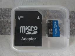 Cartão Micro USB Lexar 256 GB 633x classe 10