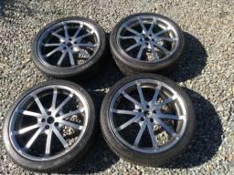 """Rodas 18"""" 5 furos pneus novos"""