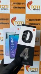 Promoção! Xiaomi Redmi Note 8 - 64Gb - Preto + Mi Band 4