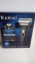 Máquina Barbear Shaver Kemei 3 Em 1 Nariz Barba Pelos Corpo (aceitamos cartão)