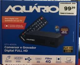 Conversor e gravador digital FULL HD NOVO, para TV aberta marca Aquário