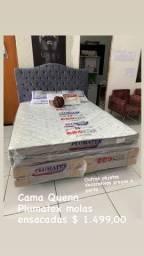 Cama Quenn plumatex já disponível pra entrega imediata