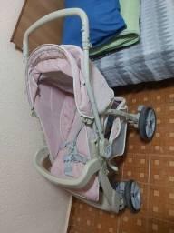 Carrinho mais base e bebê conforto
