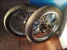 Par de rodas 150 a disco