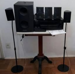 Pionner Receiver VSX - D510 e conjunto de caixas de som S-FCRW210R