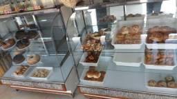 Vendo 2 balcões vidro curvo com tampo granito