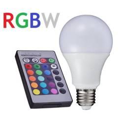 Lâmpada de LED Colorida RGB 3w E27 Bivolt Controle Remoto