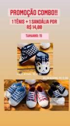 Calçado/Sapato/Tênis/Sandália para Bebê