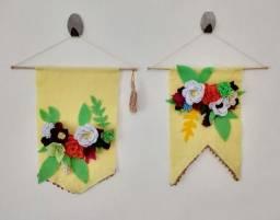 Artesanato Flâmula Bandeira floral personalizada