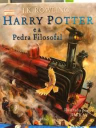 Livro Harry Potter e a pedra filosofal ( ilustrado )