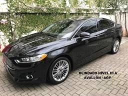 Ford Fusion 2.0 Titanium FWD Ecoboost - Blindado Avallon - Impecável