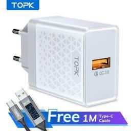 TOPK B348Q Multi Carregador USB de Carregamento Rápido de Tomada UE QC3.0 para Viagem