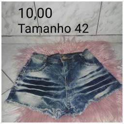 Shorts jeans tamanho 42