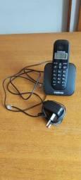 Telefone Intelbras sem fio com nota