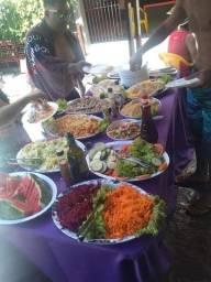 Buffet de churrasco/ churrasqueiro