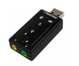 Adaptador De Som USB - Plenus Informática