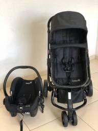 Carrinho + bebê conforto + base safety