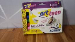 Tinta guache 15 ml c/6 cores neon Acrilex