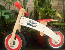 Bicicleta infantil de madeira sem pedal importada