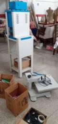 Máquina de chinelo com impressora