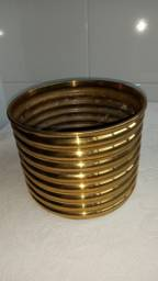 Cachepot antigo bronze lindo