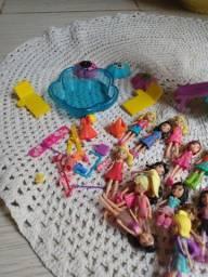 Coleção bonecas Polly com acessórios