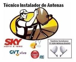 Guinho sat antena instalação