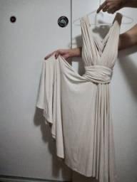 Vestido midi, tamanho único/estica bastante, da marca SSANG BANG WOOL
