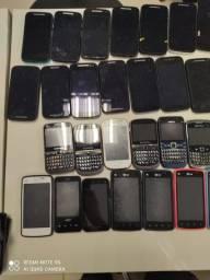 Mais de 50 celulares para retira de peças ou conserto